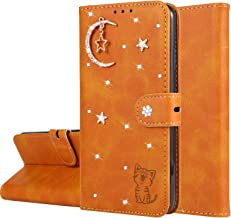 Miagon Diamond Wallet Case for iPhone 6S Plus 6 Plus 3D Moon Star Cat Design PU Leather Flip Magnetic Closure Card Slots Stand Shockproof Full Protective Cover Orange Estimated Price : £ 6,29