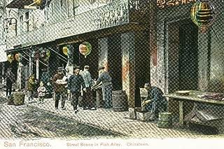 San Francisco, California - A Street Scene in Fish Alley (16x24 Fine Art Giclee Gallery Print, Home Wall Decor Artwork Poster)