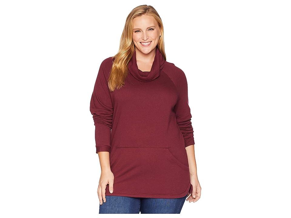 Columbia Plus Size Weekend Wanderertm Pullover (Rich Wine) Women