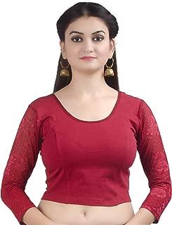 Chandrakala Women's Stretchable Readymade Indian Ethnic Saree Blouse Crop Top Choli (B101)