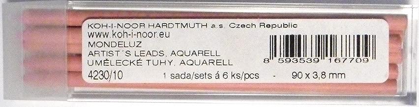 Koh-I-Noor Polycolor Mines de Couleur Aquarelle pour Porte-mine 3.8mm Diamtre 90mm Blanc Titanium