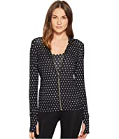 Kate Spade New York Athleisure - Polka Dot Scallop Jacket