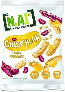 N.A! Nature Addicts Crisp'Bean Saveur Fromage, Soufflés d'Haricots, Légers et Délicats, 50% de Matières Grasses en Moins, ...