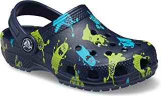 crocs Unisex-Child Kids' Classic Graphic Clog | Slip on Water Shoes for Boys and Girls Clogs