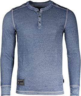 5aa0ea191fbda4 ZIMEGO Men s Casual Long Sleeve Lightweight Burnout Thermal and Heather  Henley