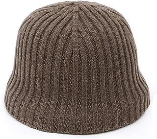 Jelord - Sombrero de Pescador Plegable Bucket Hat Al Aire Libre Gorro Pescador Gorro de Punto Mujer Cálido para Otoño Somb...