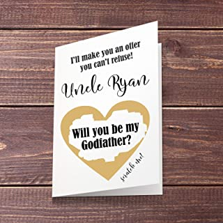 will you be my godfather scratch card