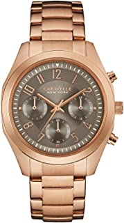 Caravelle New York 44L198 Ladies Melissa Rose Gold Chronograph Watch