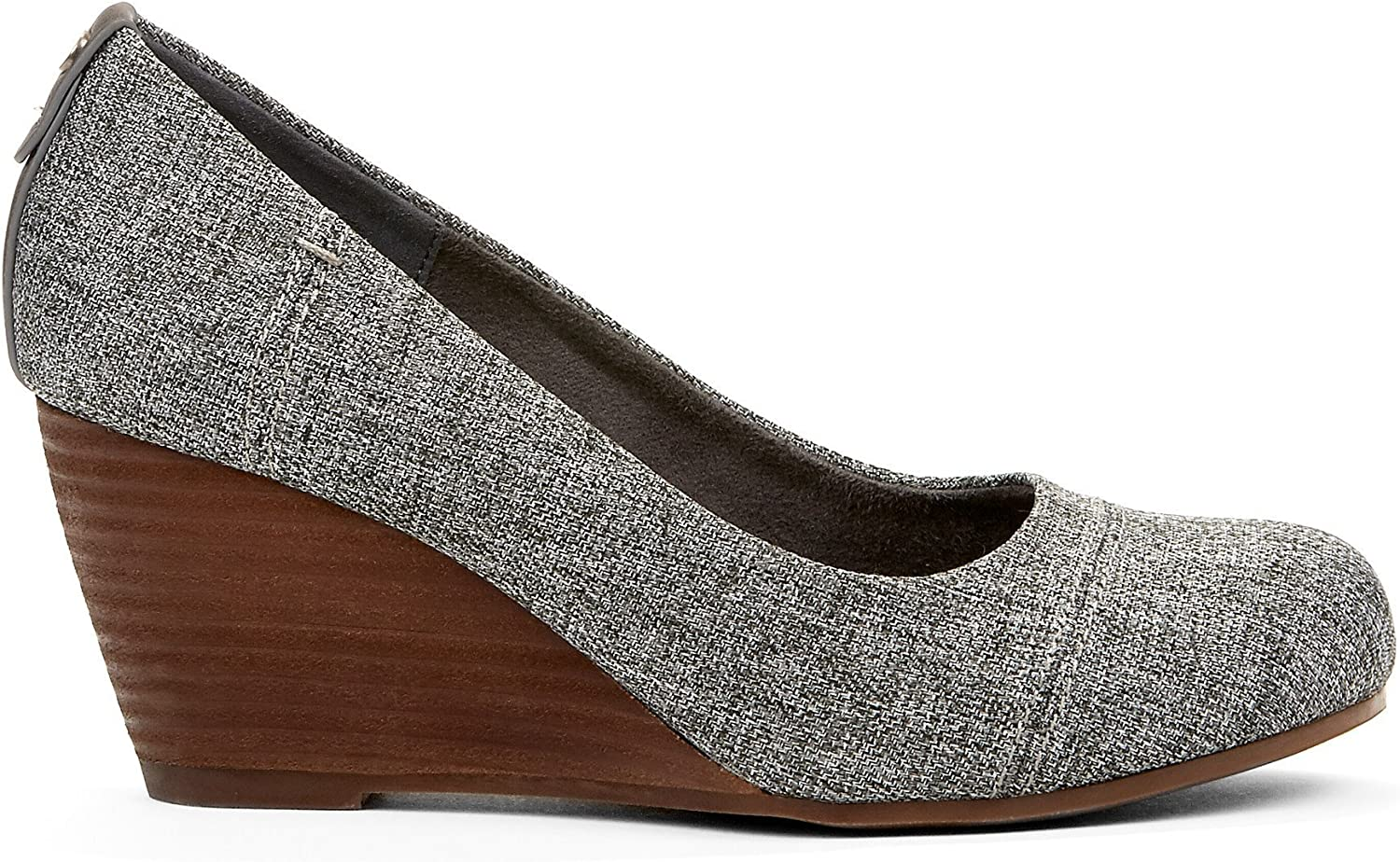 Heavenly Womens Dress Wedge shoes - Casual & Comfortable - Perfect for Fall Summer Spring - Trendy Fashion Ankle High Made from Fabric & Memory Foam with Closed Round Toe