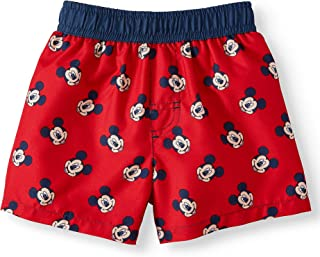 Dreamwave Infant Boys Disney Mickey Mouse Heads Red Swim Short Trunk