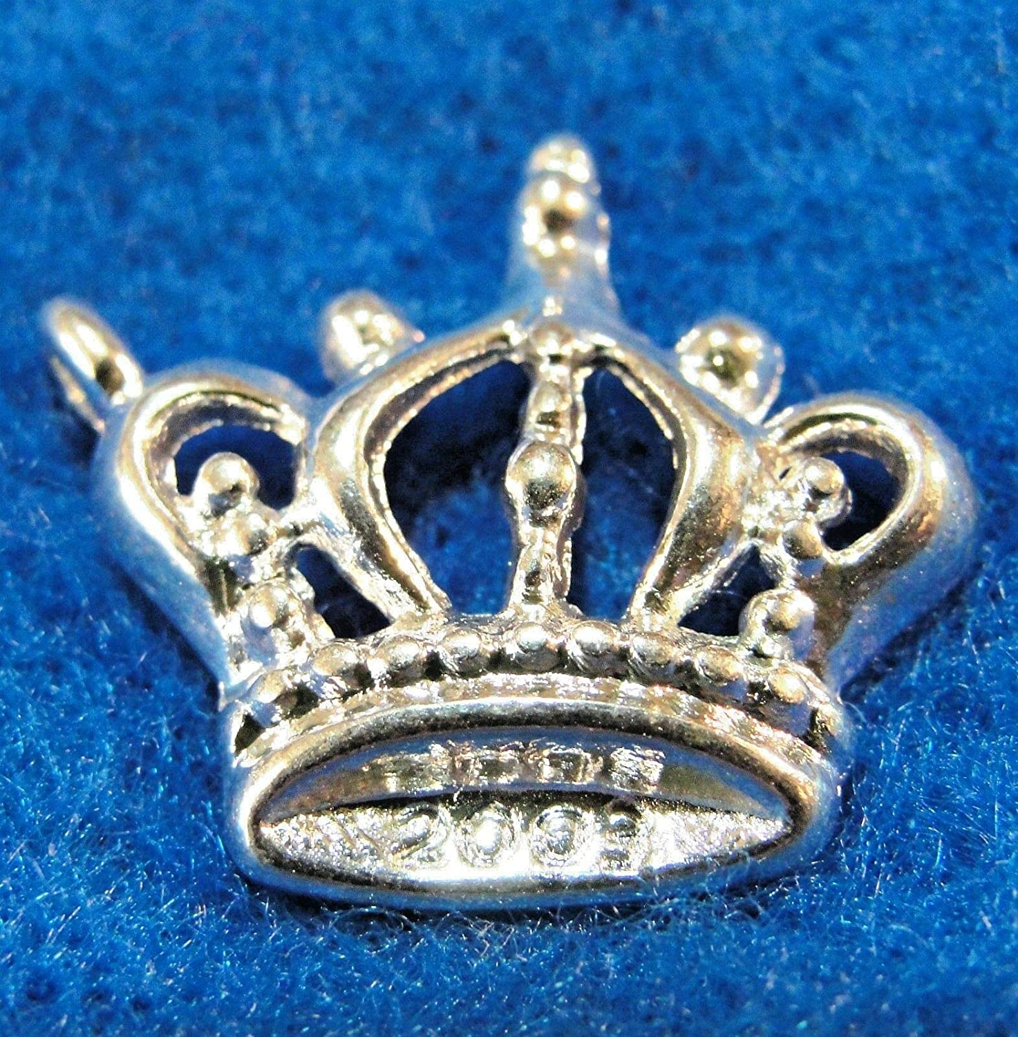 50Pcs. WHOLESALE Silver-Plated Kings Max 80% OFF All stores are sold Charms Pendants Tibet CROWN