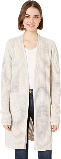 Shae Cotton Knit Long Sleeve Cardigan Sweater