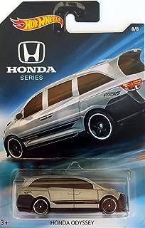 Hot Wheels - Honda Series - Honda Odyssey Van - Silver with Black Stripes and Highlights - Unique Art Card!