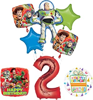 Mayflower Products Toy Story 2nd Birthday Party Supplies And Balloon Bouquet Decorations