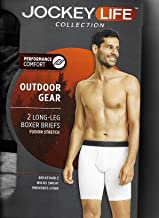 Jockey Life Men's 2-Pack Eco Outdoor Gear Fusion Stretch Boxer Briefs - Blue & Gray Heather