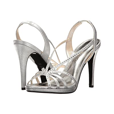 Caparros Galaxy (Silver Metallic Fabric) High Heels