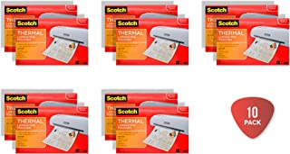 Scotch Thermal Laminating Pouches, 11.45 x 17.48-Inches, 25-Pouches (TP3856-25) 10-Pack