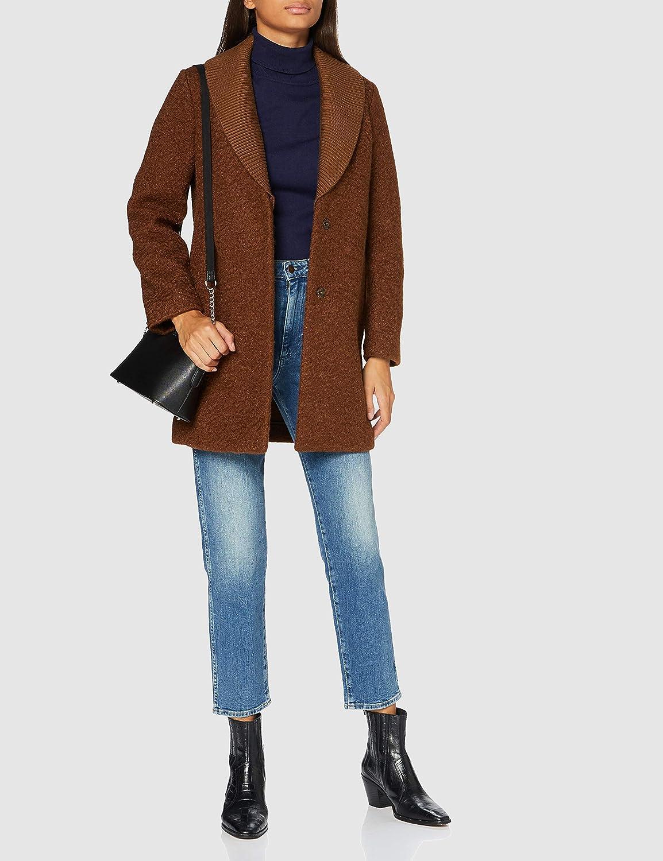 Sisley Damen Coat Mantel Braun (Cappuccino Brown 668)