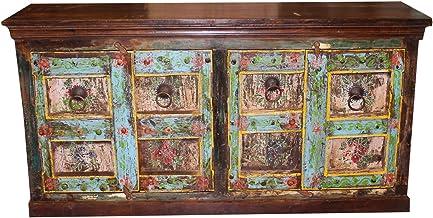 Mogul Interior Antique Door Sideboard Rustic Carved Buffet Farmhouse Bohemian Vintage Design