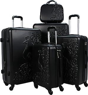 Luggage Trolley Set, 5 Pcs - Black