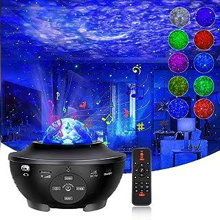 「令和最新版&リモコン式」スタープロジェクターライトSunBox ベッドサイドランプ Bluetooth スピーカー 一台二役 投影ランプ Bluetooth/USBメモリに対応 プラネタリウム 10種点灯モード タイマー機能付き 音声制御 輝...