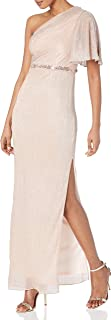 Women's Glitter Knit Column Gown