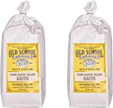Old School Brand Stone Ground Yellow Grits - 2 Pound Bags (Pack of 2)