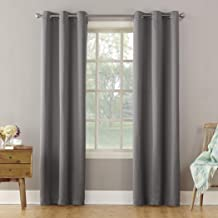 "Sun Zero Becca Energy Efficient Grommet Curtain Panel, 40"" x 95"", Gray"