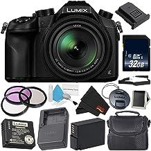 Panasonic Lumix DMC-FZ1000 Digital Camera 4K Point and Shoot Camera, 16X Leica DC Vario-Elmarit Zoom Lens Silver Level Bundle