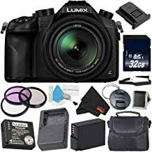 Panasonic Lumix DMC-FZ1000 Digital Camera 4K Point and Shoot Camera, 16X Leica DC Vario-Elmarit Zoom Lens Silver Level Bundle