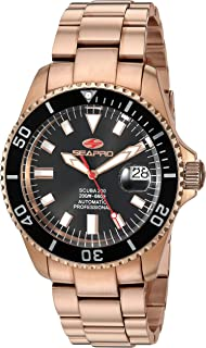 Seapro Men's Scuba 200 Automatic Stainless Steel Strap, Rose Gold, 21.5 Casual Watch (Model: SP4322)
