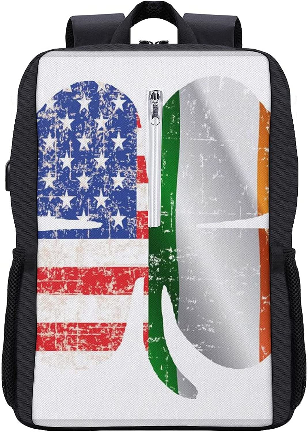 Lucky Irish Clover Flag Laptop Port USB Backpack Brand new with Charging Albuquerque Mall
