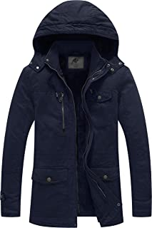 Men's Winter Thicken Cotton Parka Jacket Warm Coat with...