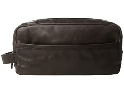 Frye Logan Travel Large Bag (Slate Antique Pull Up) Toiletries Case