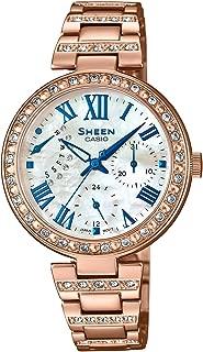 Casio Sheen Analog Mother of Pearl Dial Women's Watch - SHE-3043BPG-7AUDR (SH194)