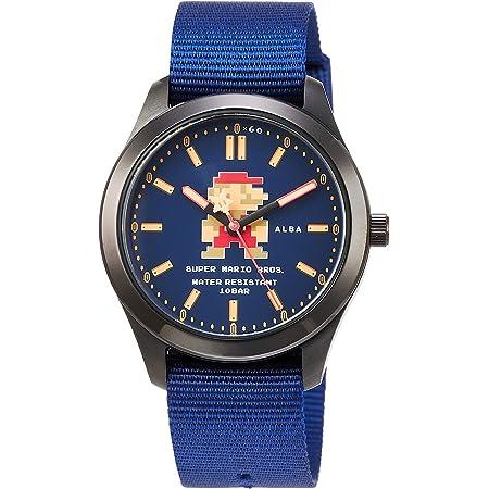 [セイコーウォッチ] 腕時計 アルバ スーパーマリオ コラボレーションモデル スターティングマリオデザイン ネイビー文字盤 日常生活用強化防水(10気圧) ACCK422 ブルー