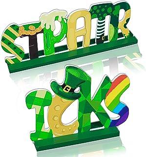 Cuecutie Table Sign Decor St. Patrick'S Day Decorations St Pattys Day Wooden Alphabet Desktop Centerpiece Ornaments Letter...