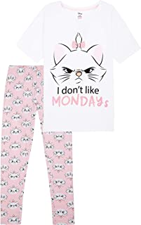 Disney Women's Pyjama Sets, Cotton Ladies Pyjamas Marie Pjs Lounge Wear S-XL