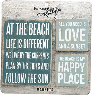 Primitives By Kathy 27502 Wooden Magnet Set Beach
