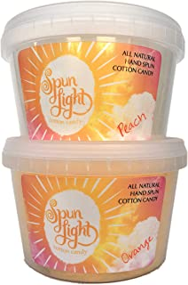 All Natural Cotton Candy - 2 flavor pack (Peach & Orange)