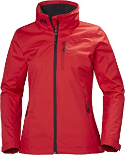 Helly Hansen Womens Hooded Crew Mid Layer Coat Jacket Alert Red - Breathable - Helly Tech Protection