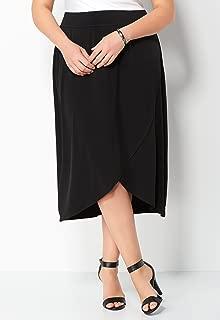 CHRISTOPHER & BANKS Easy Wear Wrap Plus Size Skirt