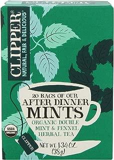 Clipper Fair Trade Organic Tea, After Dinner Mint, 20 Count (Pack of 6)