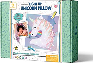 GoldieBlox Light-Up LED Unicorn Pillow, for Kids 8+, Soft & Cuddly, Educational DIY STEM Activity