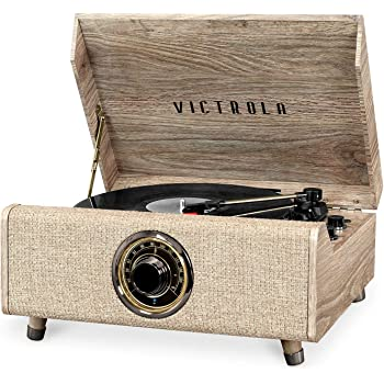 Victrola's 4-in-1 Highland Bluetooth Record Player with 3-Speed Turntable with FM Radio (VTA-330B-FOT)