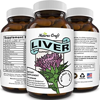 Natural Liver Detox Supplement for Men and Women Pure Liver Support Pills with Milk..