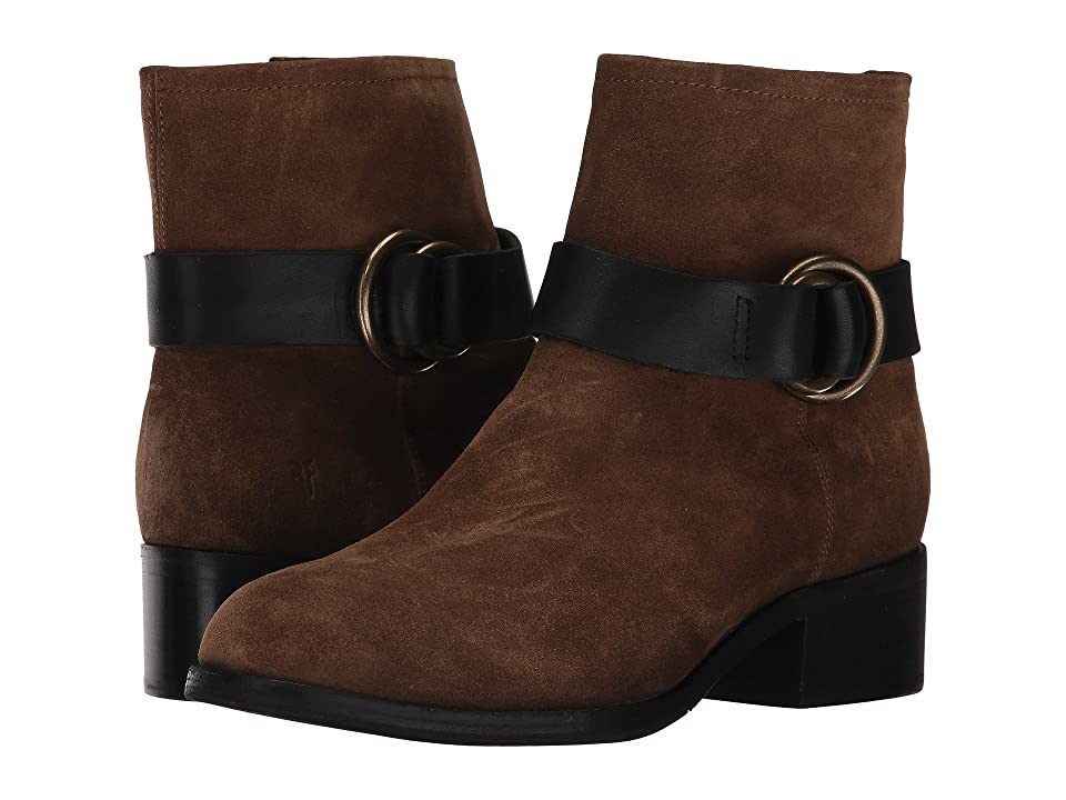 Frye Kristen Harness Short (Chestnut Soft Oiled Suede) Women