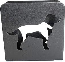 Lab 餐巾架   金属拉布拉多寻回犬餐巾架   狗餐巾架   装饰性餐巾架 黑色表面