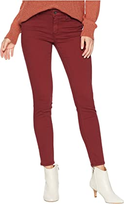 Adriana Ankle Mid-Rise Skinny in Spiced Apple Twill