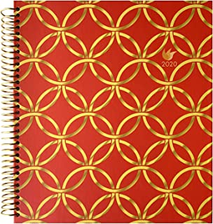 InnerGuide 2020 Planner - 2020 Calendar Year - 8x9 Inch Appointment Book - Daily Weekly & Monthly - by Inner Guide Life Planners (Gold Rings Cover)